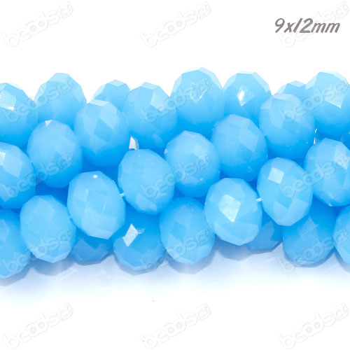 7x12mm Chinese Crystal Rondelle Strand, opaque dark aqua , about 36 beads