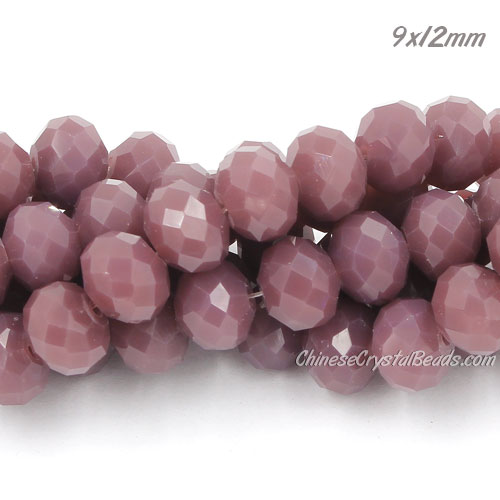 amethyst jade Rondelle Bead Strand, 9x12mm, about 36 beads