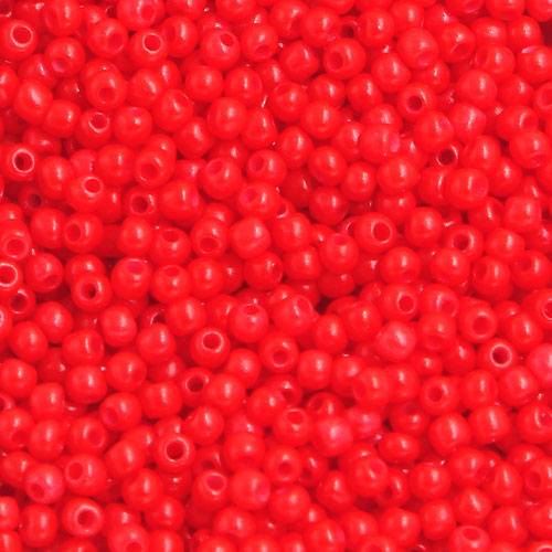 1.8mm AAA round seed beads 13/0, red, #C10, approx. 30 gram bag