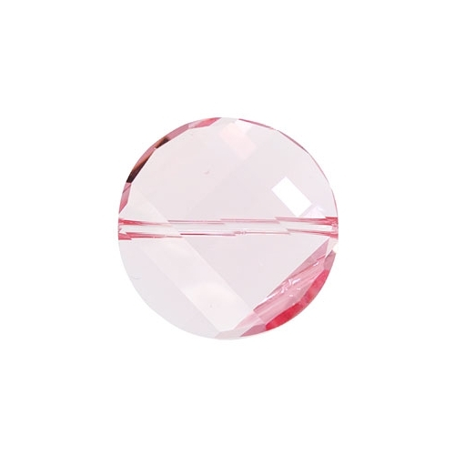 China Crystal Twist Bead 18mm, Light Rose, 10 beads
