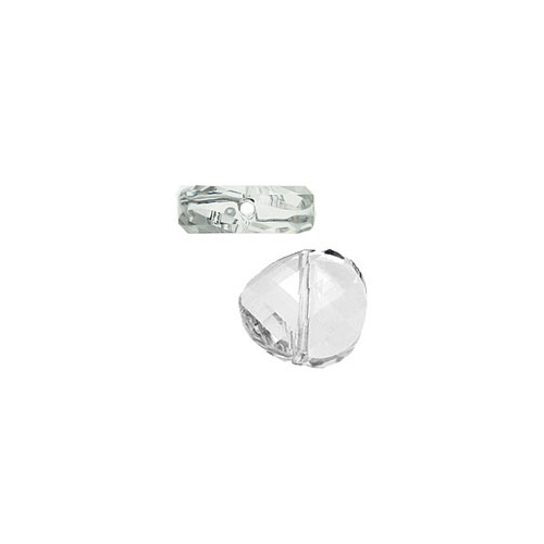 China Crystal Twist Bead, 22mm, Clear, 1pcs