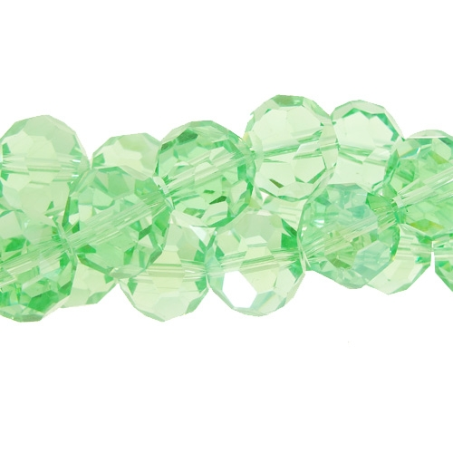 Chinese Crystal 12mm Long Round Bead Strand, lime green ,16 beads