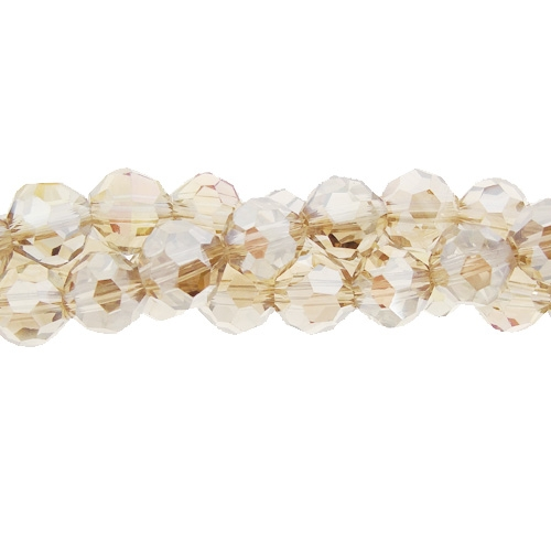 95Pcs Chinese Crystal 6mm Long Round Bead Strand, Lt. Colorado Topaz