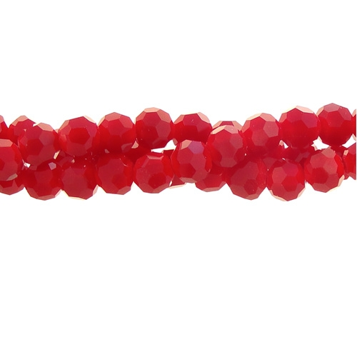Chinese Crystal 6mm Round Bead Strand, Red Velvet , about 50 beads