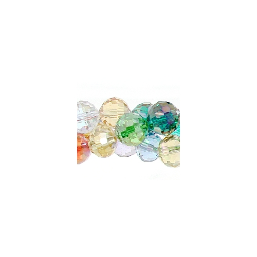 Chinese Crystal Round Strand, 10mm, Multi-Color ,20 beads