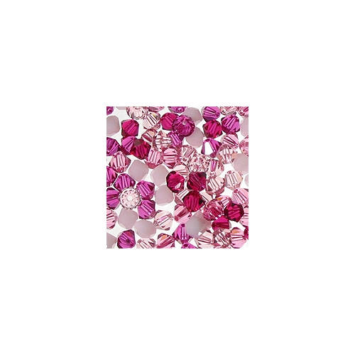 Chinese Crystal, 4mm Bicone, Bag of 48, Blushing Pink Mix