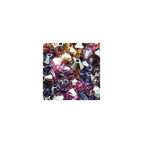 Chinese Crystal, 4mm Bicone, Bag of 48, Luxurious Mix