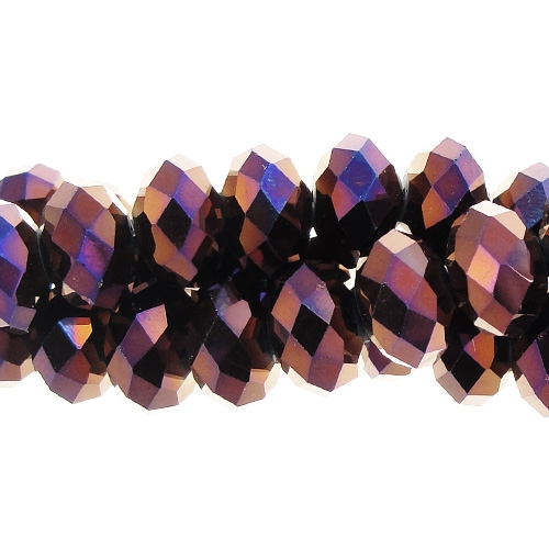 Chinese Crystal Rondelle Strand, purple light, 9x12mm, about 36 beads
