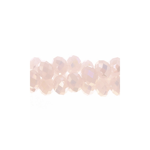 Chinese Crystal Rondelle Strand, Opaque Pink AB, 6x8mm , about 72 beads