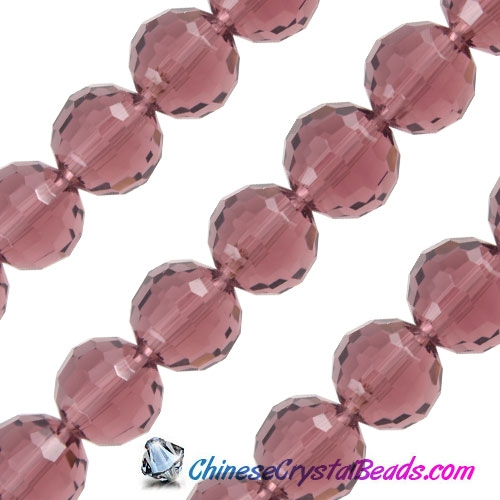 Crystal Disco Ball Beads, Amethyst, 96fa, 12mm, 16 beads