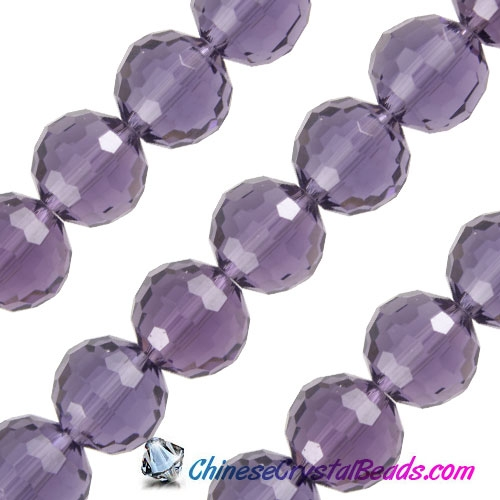 Crystal Disco Round Beads, violet, 96fa, 12mm, 16 beads