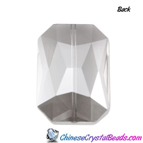 Chinese Crystal Multi-Faceted Rectangle Pendant, Black Diamond, 24x33mm, sold 1pcs