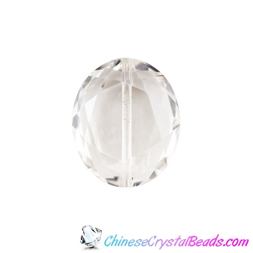Chinese Crystal Faceted Oval pendant, clear ,20x24mm, 1 beads