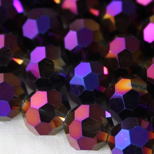 Chinese crystal 10mm round beads , Purple Light, 20 Beads