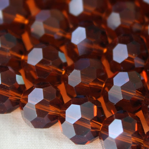 Chinese crystal 10mm round beads , Amber 20 Beads