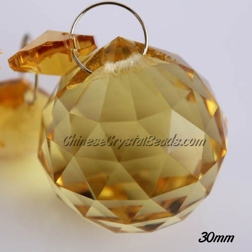 Crystal faceted ball pendants , 30mm, Sun