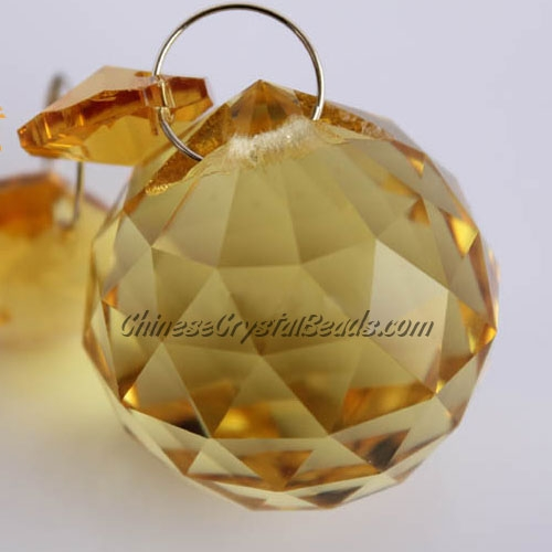 Crystal faceted ball pendants , 40mm, Sun