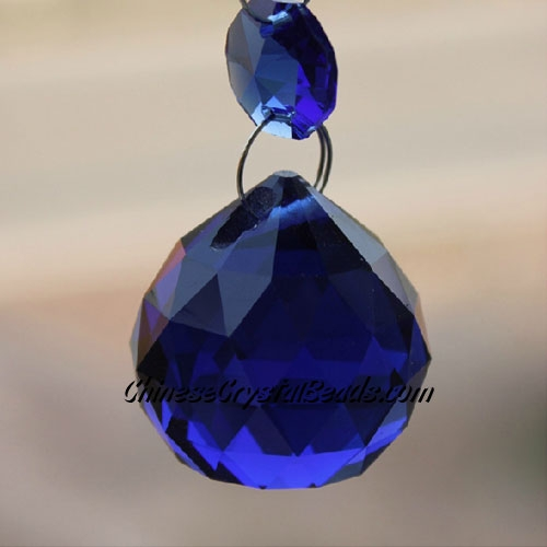 Crystal faceted ball pendants , 30mm, dark blue