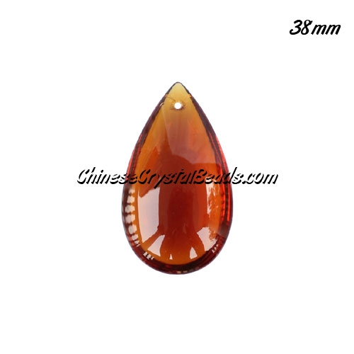 38x22mm Crystal beads Curtain drop Smooth surface pendant, coffee