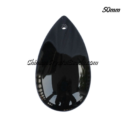 50x28mm Big Crystal beads Curtain drop Smooth surface pendant, 50mm, hole: 1.5mm