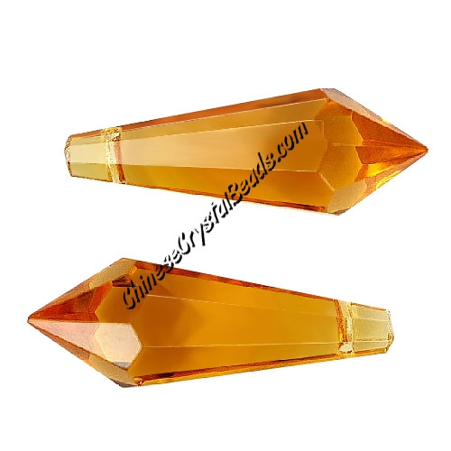 Chinese Crystal Ice Drop Prism Pendant, sun, 38mm