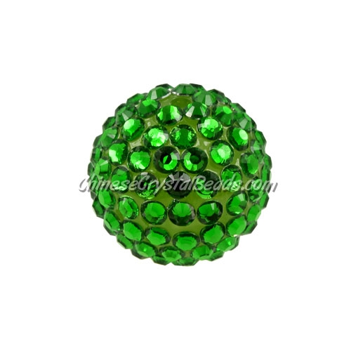 Chinese Acrylic Crystal Disco Bead, fern green, 20mm(inside)x22mm(outside ) 6 beads