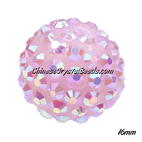 Crystal Disco Ball Acrylic Rhinestone Lt. Violet 16x18mm, 12 beads