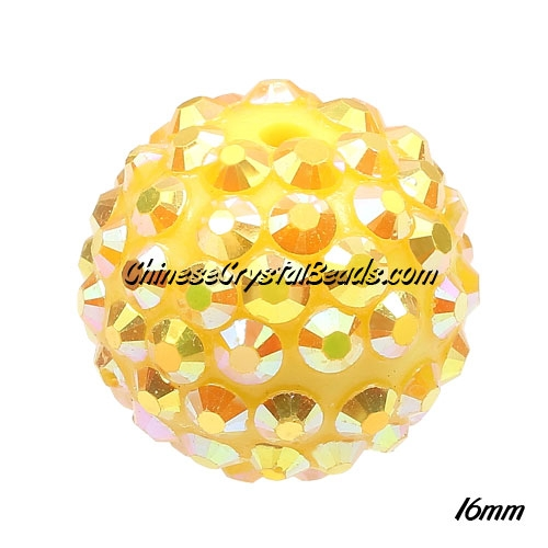 Crystal Disco Ball Acrylic Rhinestone SunFlower 16x18mm, 12 beads