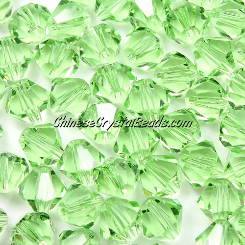Chinese Crystal 8mm Bicone Beads, lime green, #416, AAA quality, 10 beads