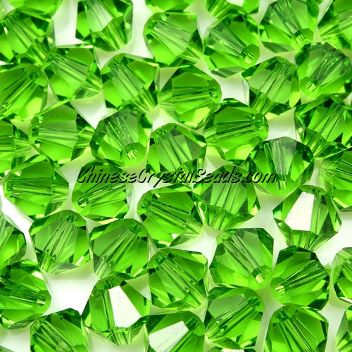 Chinese Crystal 8mm Bicone Beads, fern green, #417, AAA quality, 10 beads