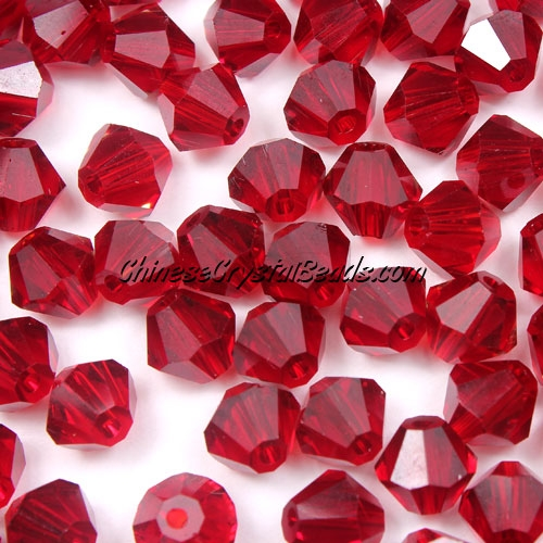 Chinese Crystal 8mm Bicone Beads, Siam, #445, AAA quality, 10 beads