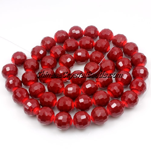 Chinese Crystal 12mm Long Round Bead Strand, Red Velvet ,16 beads