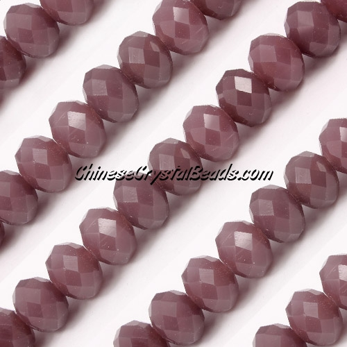 Chinese Crystal Rondelle Strand, 8x10mm, opaque Chocolate , 25 beads