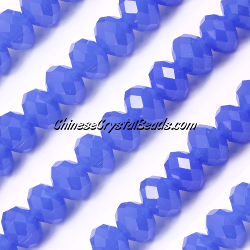 70Pcs 8x10mm Chinese Crystal Rondelle Strand, opaque sapphire
