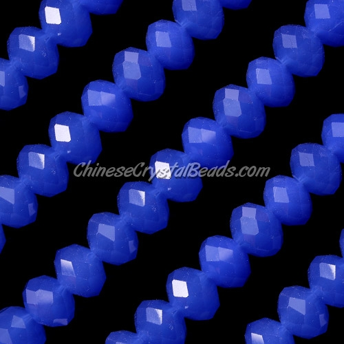 Chinese Crystal Rondelle Strand, 8x10mm, opaque sapphire , 25 beads