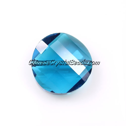 China Crystal Twist Bead 18mm ,capri blue, 10 beads