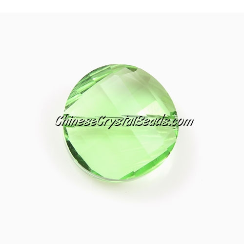 Chinese Crystal Twist Bead, lime green, 18mm, 10 beads