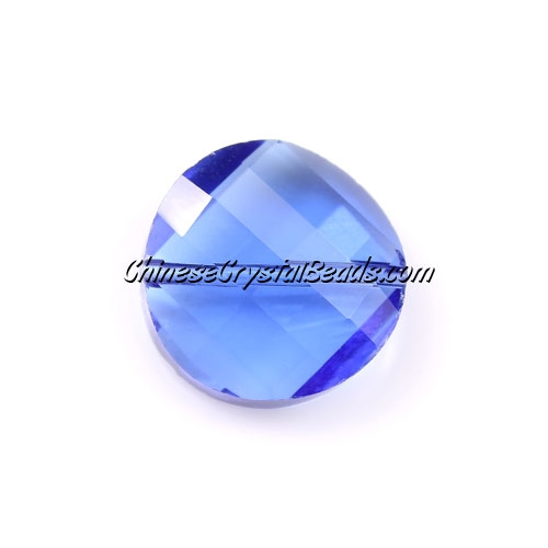 Chinese Crystal Twist Bead, Med-sapphire, 18mm, 10 beads