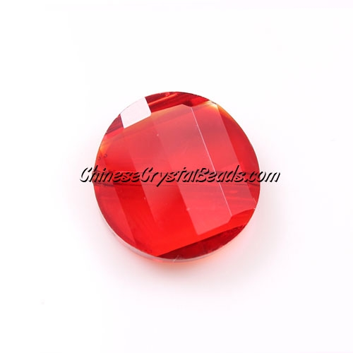 Chinese Crystal Twist Bead, siam, 18mm, 10 beads