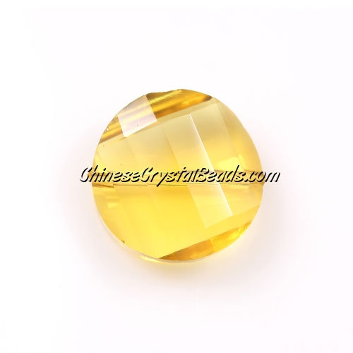 Chinese Crystal Twist Bead, Sun, 18mm, 10 beads