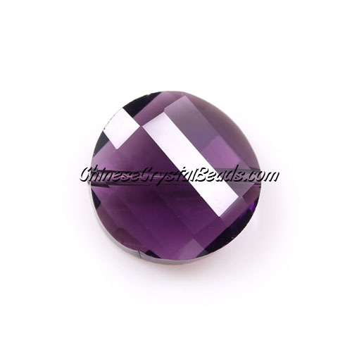 Chinese Crystal Twist Bead, Violet, 18mm, 10 beads