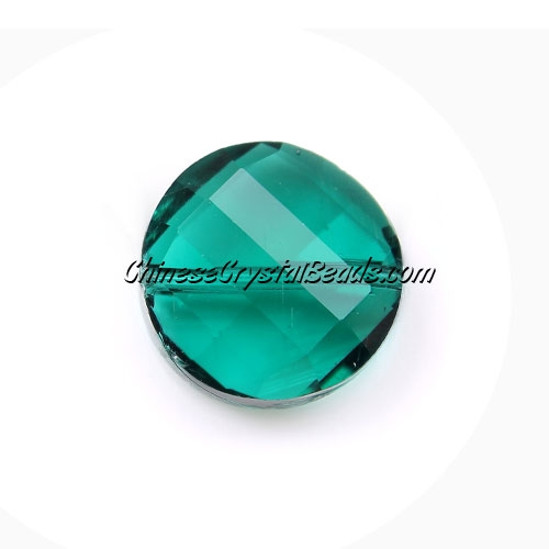Chinese Crystal Twist Bead, Emerald, 18mm, 10 beads