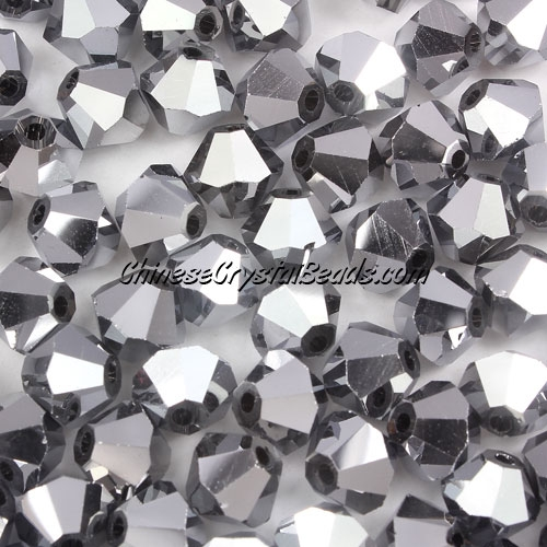 Chinese Crystal 8mm Bicone Beads, white silver, #831, AAA quality, 10 beads