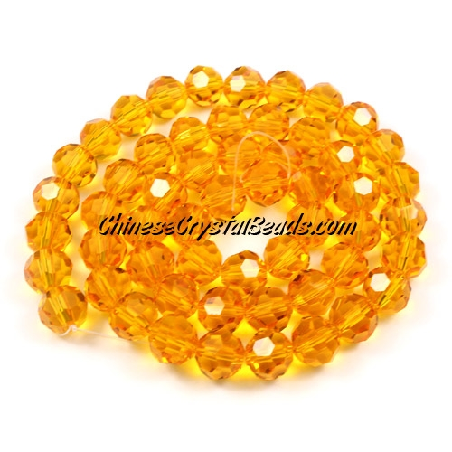 Crystal Round beads strand, 8mm, Sun, 25 beads