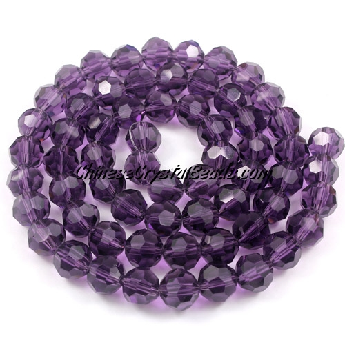 35pcs Crystal Round beads strand, 8mm, violet