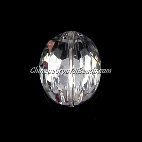 Chinese Crystal Oval Bead Strand, Crystal Silver, 20x24mm ,1 beads