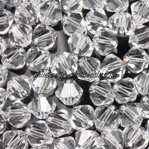 Chinese Crystal 8mm Bicone Beads, Clear, #801, AAA quality, 10 beads