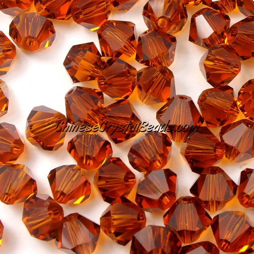 Chinese Crystal 8mm Bicone Beads, smoke topaz, #807, AAA quality, 10 beads