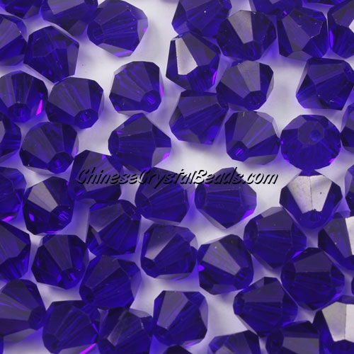 Chinese Crystal 8mm Bicone Beads, Sapphire, #810, AAA quality, 10 beads