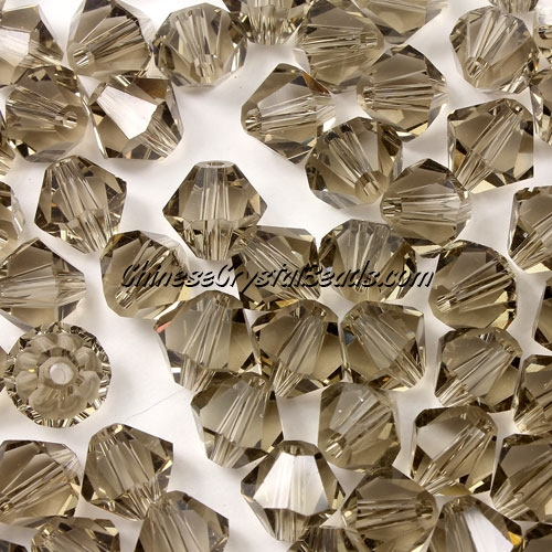Chinese Crystal 8mm Bicone Beads, smoke, #824, AAA quality, 10 beads